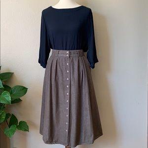 2/$50 Vintage Cotton button front skirt.